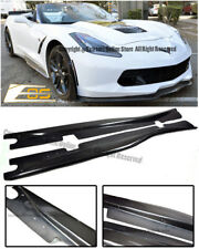 Z06 Style Carbon Fiber Side Skirts Panel Lip For 14-Up Corvette C7 Stingray Z51