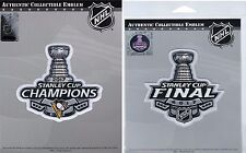 2017 STANLEY CUP FINAL PATCH + PITTSBURGH PENGUINS CHAMPIONS PATCH SET OF TWO