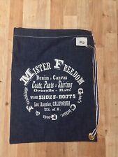 Mister Freedom. Raw Selvedge Denim DrawString Bag. 38cm x 52cm. (ref:30).