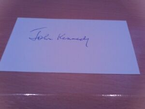 signed card of ex lincoln city goalkeeper john kennedy