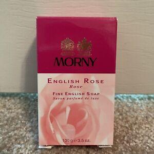 Morny English Rose Perfumed Fine English Soap 3.5 OZS 100g