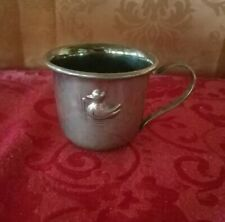 Vintage Pewter Duckling Baby Cup