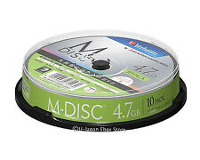 Verbatim M-Disc DVD-R for Data 4.7GB 4x Speed Inkjet Printable 1000 Years Life