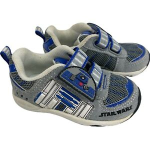 Stride Rite Star Wars Sneaker Shoes R2D2 Trooper Droid Toddler Boys Size 4
