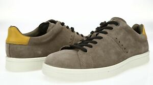 ECCO Mens Kallum Espresso Oak Suede Almond Toe Casual Lace Up Sneakers Size 44