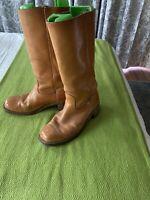 vintage FRYE men's boots SIZE 91/2 D SADDLE COLOR made in USA  model 2591