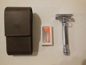 MERKUR Safety Razor - new Unused - leather case - Germany - priced 2 sell