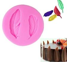 3D Feather Silicone Fondant Mold Cake Decor Chocolate Sugarcraft Baking Mould