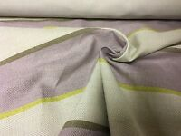 LAURA ASHLEY LILAC STRIPE UPHOLSTERY FABRIC 7.2 METRES