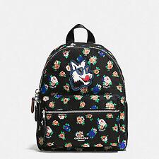 Coach Mini Charlie Backpack In Tea Rose Floral Rucksack Billie F 57636  NWT