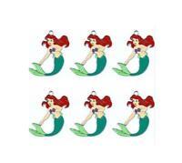 20pcs cartoon mermaid princess Metal Charm Pendant DIY Necklace Jewelry Making