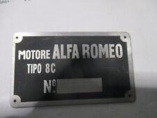 Alfa Romeo Id Nameplate Motors 8 C 8C s49