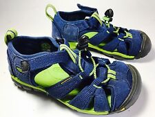 KEEN Kanyon Closed Toe Sport Sandals Hiking Shoes Kids Toddler Boys Size 12 Blue