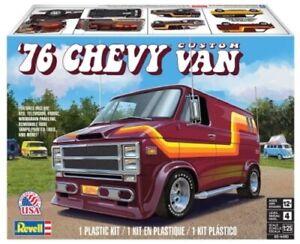 1976 Chevy Custom Van Revell 1/25 4490 Plastic Model Kit