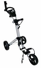 BRAND NEW QWIK-FOLD DELUXE 3-WHEEL GOLF BUGGY - SILVER