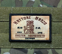 Kill Bill Hattori Hanzo Morale Patch Tactical Military Army USA Flag Hook Badge