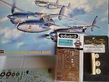 "P38J LIGHTNING ""VIRGINIA MARIE""1/48 SCALE HASEGAWA MODEL+PHOTOETCHED+RESIN WHEEL"
