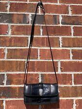 Brighton Crossbody Bag Black Leather Embossed Handbag Purse