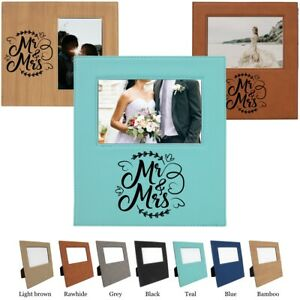 Griffco Supply Mr. & Mrs. Leatherette Wedding Picture Frame Choices