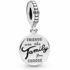 Genuine PANDORA Sterling Silver FRIENDS ARE FAMILY Pendant Dangle Charm ALE