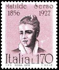 Italy 1978 MNH, Matilde Serao, Greek-born Italian journalist & novelist (D2n)