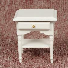 Dollhouse Miniature 1/12 Scale European Style Bedside Table Solid Wood Drawer