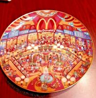 Vtg. China Glass McDonald's Golden Show Case Collector Plate By Franklin Mint