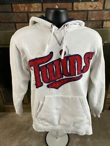 Minnesota Twins MBL Baseball Hooded Hoodie Sweatshirt Mens Size Large Majestic