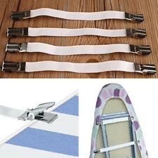 4pcs Bed Sheet Fasteners Mattress Strong Clip Grippers Elastic Holder CO