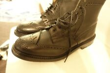 TRICKERS BOURTON BOOT BLACK LEATHER SIZE 11 WORN COUPLE OF TIMES
