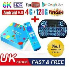 Android 9.0 Smart TV Box H96 Mini H6 4G+128GB  Quad-Core 6K  FULL HD & Keyboard