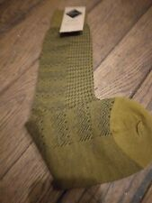 BNWOT Mens Pantherella Long Over the Calf Socks  green Black  PATTERN  10 - 12