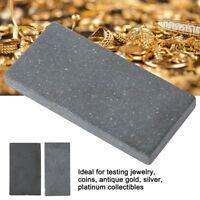 6 Gold Testing Acid Jewelry Test Kit & Scratch Stone 10k 14k 18k 22k Plat Silver