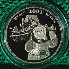 2001 CANADA Quebec Winter Carnival Festival Proof 50 cent coin org folder