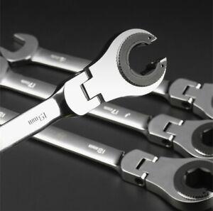 72-Tooth RatchetFix Tubing Wrench Set Ratcheting Flex Head Car Repair Hand Tools