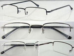 L250 Metal Half Rimless Reading Glasses/Spring Hinges/Elegant Classic Designed