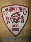 MAUMEE OHIO FIRE DEPARTMENT PATCH Fireman Rescue Indian Chief 1838 Firefighter
