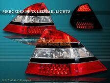2000-2005 BENZ W220 S-CLASS S430/S500/S600/S55 AMG LED TAIL LIGHTS RED CLEAR