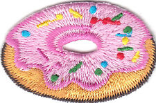 DOUGHNUT - FROSTING - DESSERTS - TREATS - Iron On Embroidered Patch