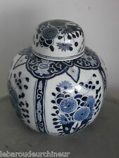 superbe vase chinois ancien old blue chineese