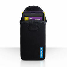 Accessories For The Nokia Lumia 1020 Caseflex Black Neoprene Pouch Case Cover