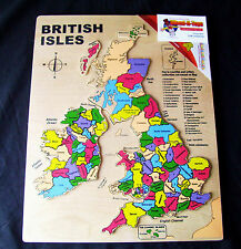 Wooden Jigsaw Map of the British Isles Counties