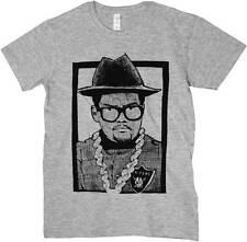 T-Shirt Musica Hip Hop Old School, maglietta Dj grigia, disegno effetto matita