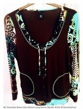 💚💙Best Collection Geometric Pattern Long Sleeve Top Size UK 18 FAST📮💚💙
