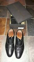 Antoine & Stanley 11.5D Black Matte Leather LaceUp Jeremy Dress Shoes Very Nice!