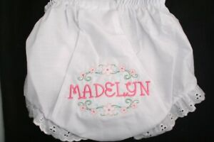 Personalized Monogrammed Diaper Cover Bloomers NewB through 4T-Flower