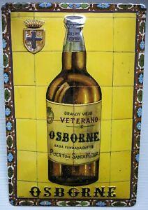 OSBORNE VETERANO BLECHSCHILD mit PRÄGUNG 20 x 30 cm