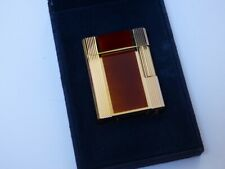 ST Dupont L1 Small Windsor Lighter - Amber with Gold Plated Trim - Fully Boxed