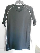 Men's NIKE FIT Dry Compression Athletic Shirt Black Gray Size XL *EUC*