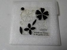 CTMH B1261 GARDEN OF LIFE FLOWERS FRIENDS MY ACRYLIX CLEAR STAMPS EUC A4612